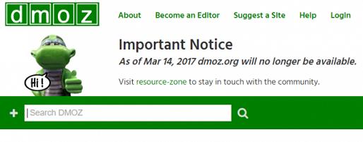 каталог dmoz закрывается
