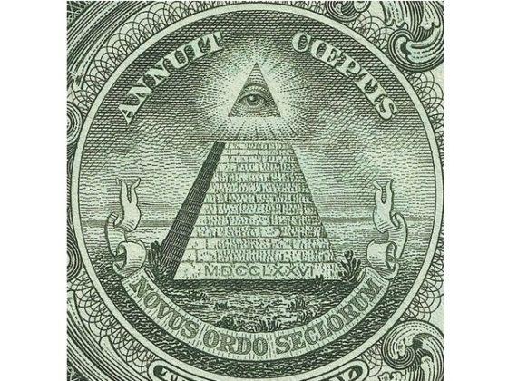 Символ Глобального управления на однодолларовой купюре