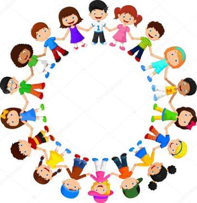 Счастливые дети в кругу